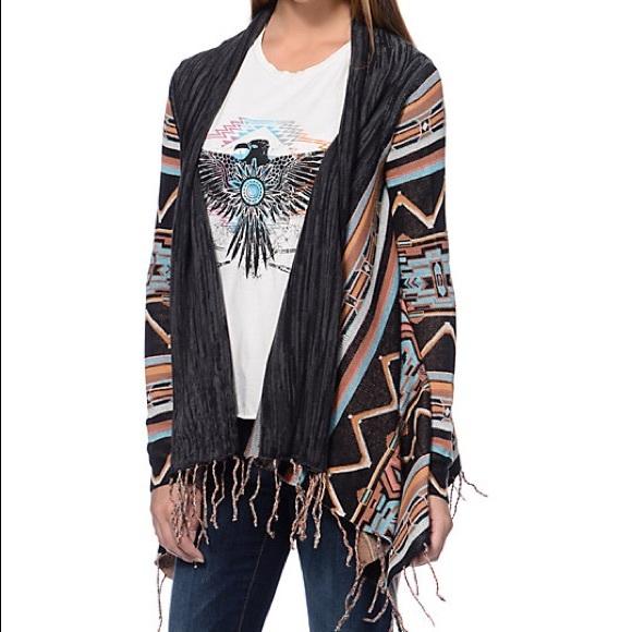 e957ab935 Billabong Sweaters - Billabong tribal print cardigan